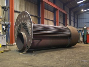 Combustion chamber ready to be fitted inside boiler